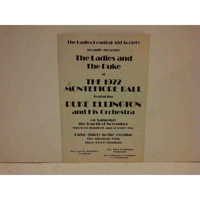 Art Deco Vintage 1972 Duke Ellington Concert Poster For Sale - Image 3 of 7