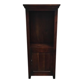 Solid Mahogany Bookcase With Cupboard For Sale