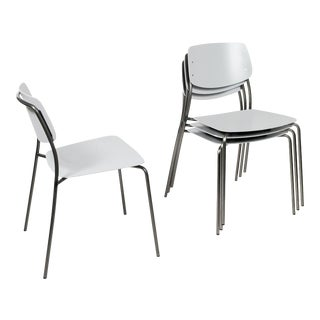 Le Corbusier Light Gray, Felber C18 Patio Chairs - Set of 4 For Sale