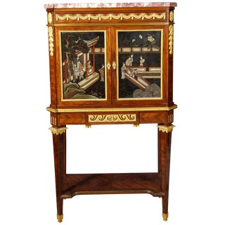 French Ormolu-Mounted Mahogany and Coromandel Lacquer Cabinet by Fernand Kohl For Sale