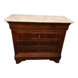19th C. Louis Philippe Marble Top Commode For Sale