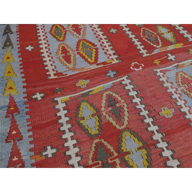 Very Large and Exceptional Antique Sivas Kilim For Sale - Image 9 of 10