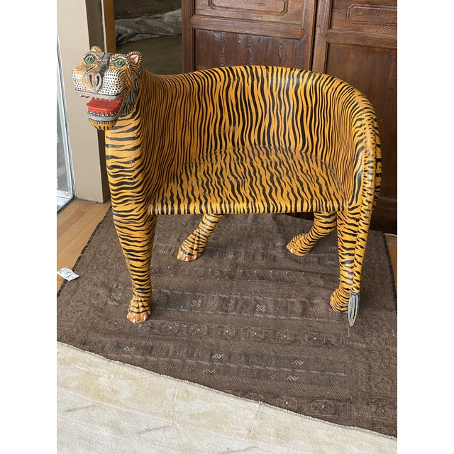 1970's Vintage Tiger Tub Chair For Sale - Image 13 of 13