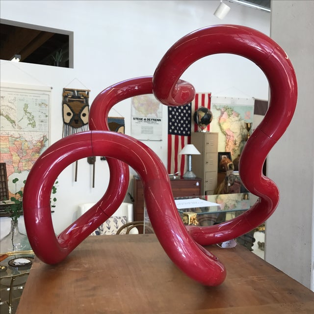Red Richard X Zawitz Museum Size Tangle Sculpture circa 1980s.