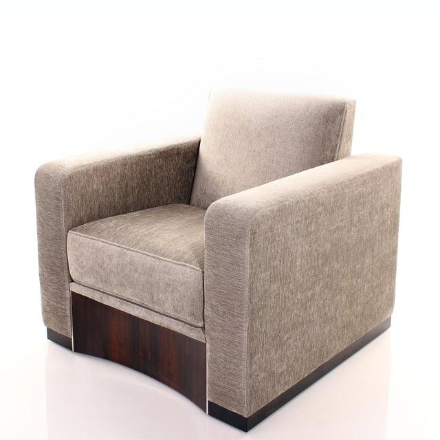 Art Deco Ziricote Lounge Chair For Sale - Image 3 of 3