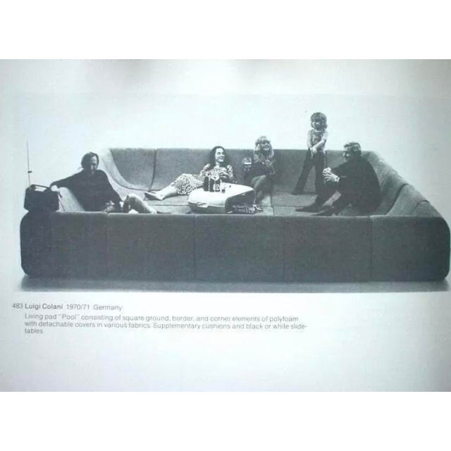 Purple Mid Century Modern Space Age Panton Colombo Era Luigi Colani Pool Sofa For Sale - Image 8 of 11