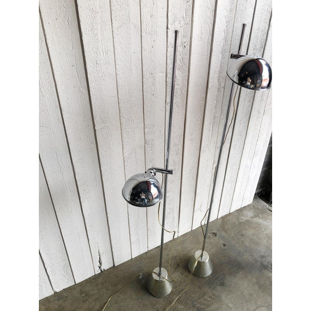 Adjustable Chrome Reading Lamps - a Pair For Sale In Portland, OR - Image 6 of 9