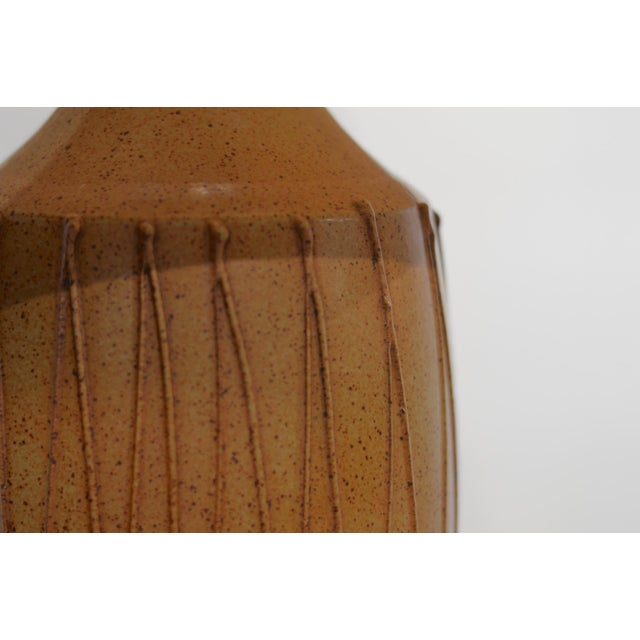 David Cressey Mid Century Ceramic Pottery Lamp For Sale - Image 11 of 12