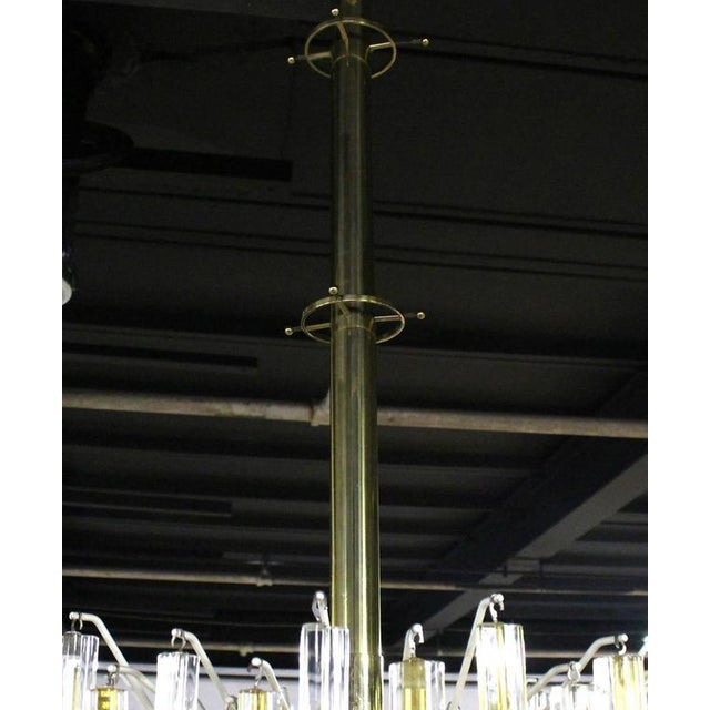 Hollywood Regency Venini Two-Tone Gold and Clear Murano Camer Light Fixture For Sale - Image 3 of 9