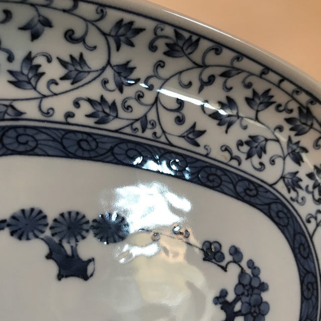 Blue and White Chinese Porcelain Oval Dish For Sale In Charlotte - Image 6 of 7