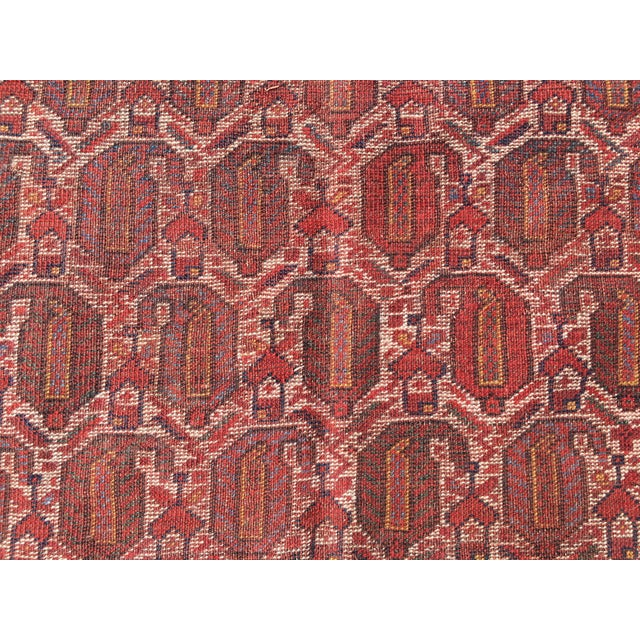 "Red Vintage Turkish Patchwork Rug - 5'5"" X 8'10"" For Sale - Image 8 of 11"