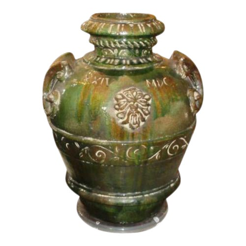 Antique XXIV MDC Italian Majolica Pottery Umbrella Stand Floor Vase For Sale