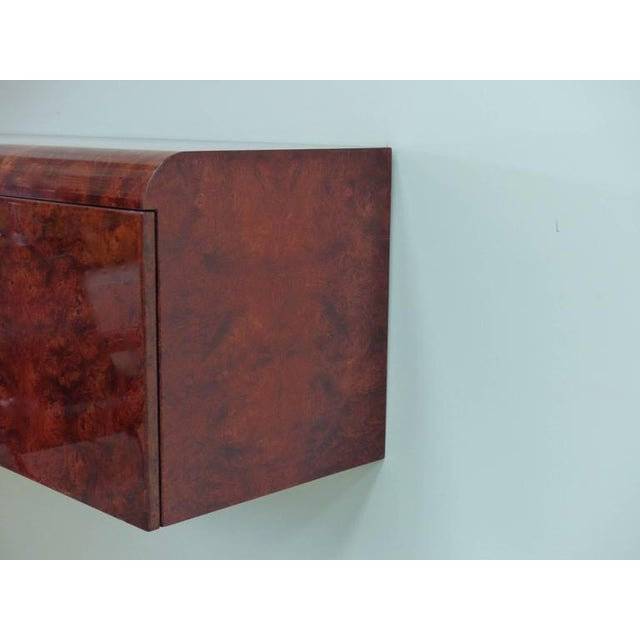 Leon Rosen Pace Hanging Burl-Wood Credenza For Sale - Image 10 of 11