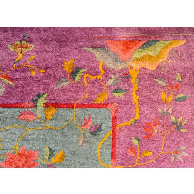 Chinese Art Deco Rug For Sale - Image 4 of 10