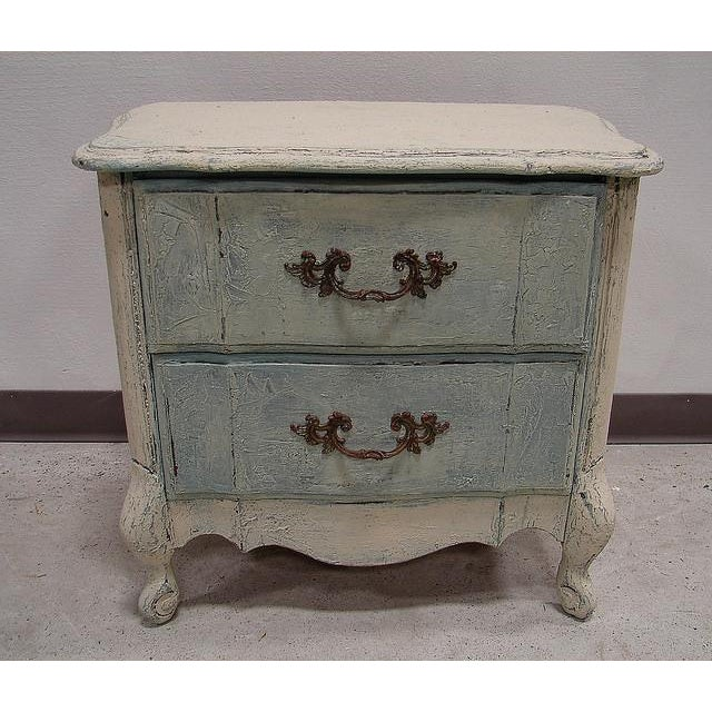 Old World French Provincial Two-Drawer Nightstand - Image 3 of 7