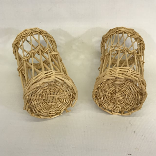 Adirondack Wicker Basket Cachepots - a Pair For Sale - Image 3 of 4