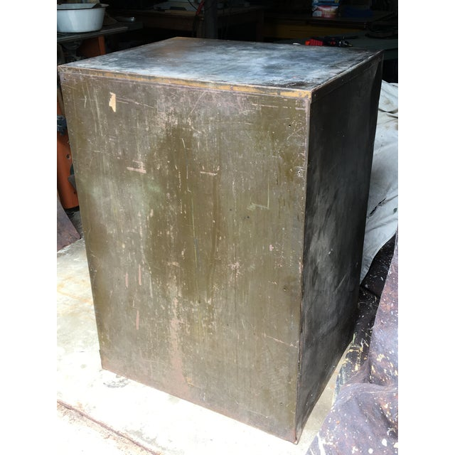 Industrial Steel Flat File Cabinet For Sale - Image 4 of 11