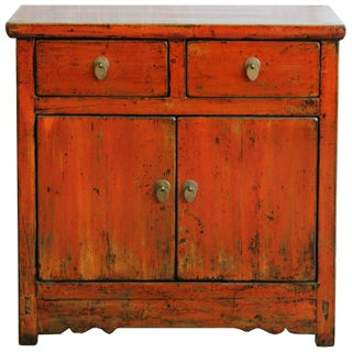 Orange Gansu Chest For Sale