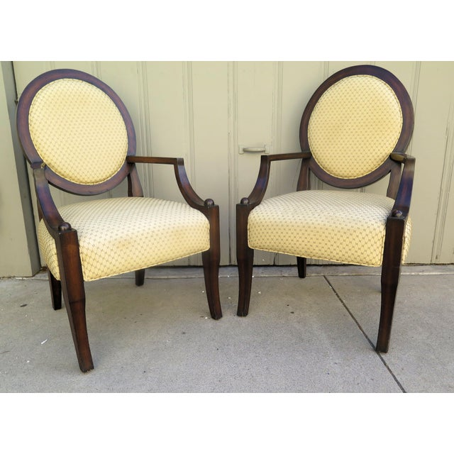 Textile Vintage 1980s A. Rudin Regency Style Side Chairs- A Pair For Sale - Image 7 of 7