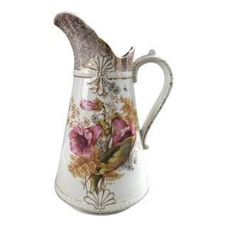 Adamantine China Floral & Gold Petite Antique Pitcher