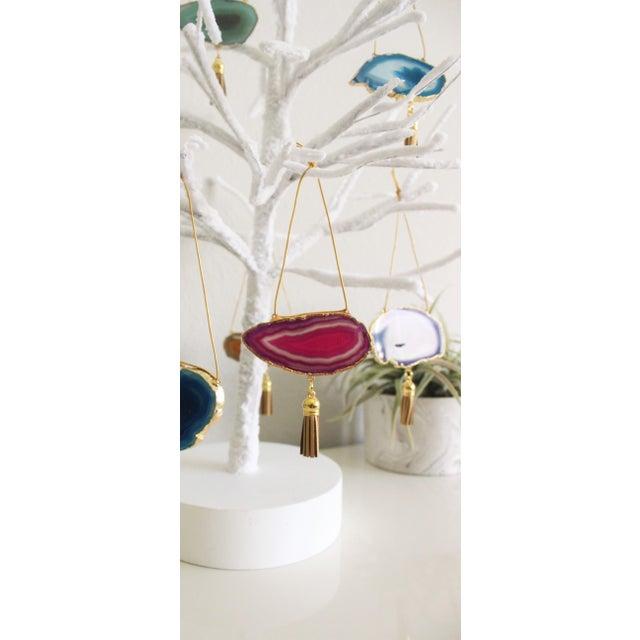 Modern Boho Agate Holiday Ornaments - Set of 7 - Image 6 of 11