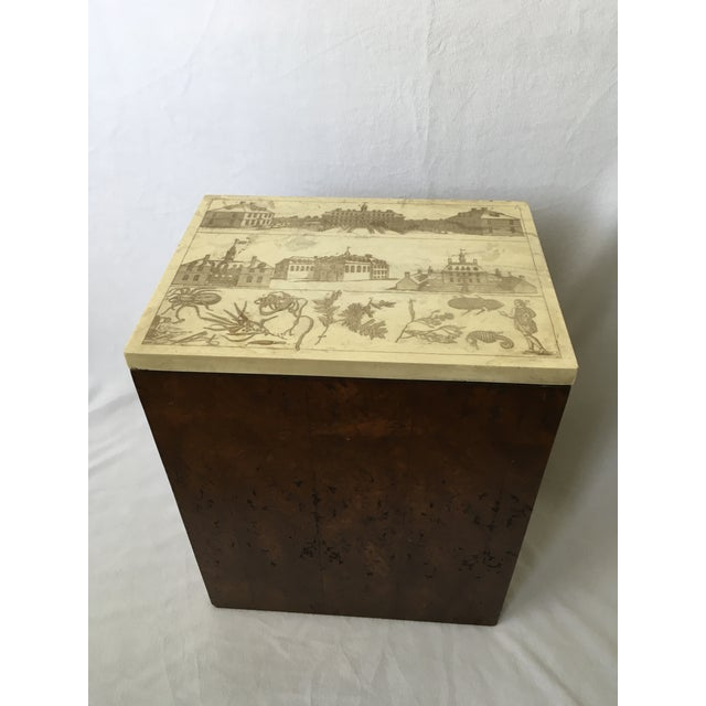 Etched Top Side Table - Image 2 of 7