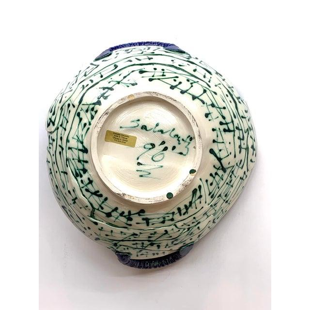 Modern Saldatis Studio Art Pottery Bowl For Sale - Image 3 of 7