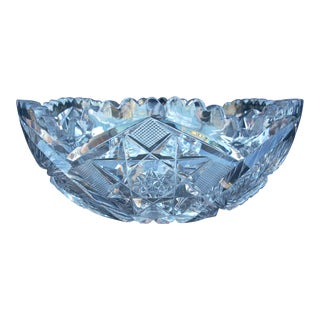 Vintage Cut Crystal Bowl