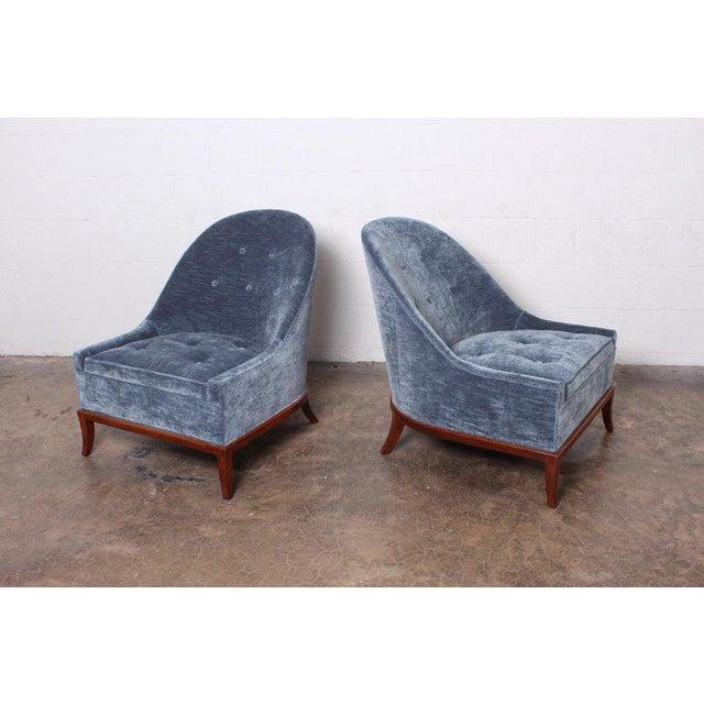 Mid-Century Modern Pair of Slipper Chairs by t.h. Robsjohn-Gibbings for Widdicomb For Sale - Image 3 of 12