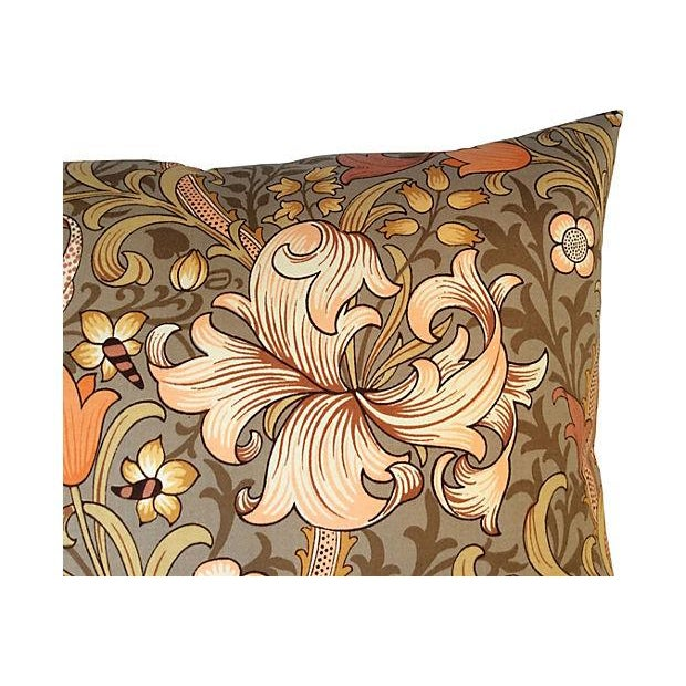 William Morris Golden Lily Floral Pillow - Image 2 of 4