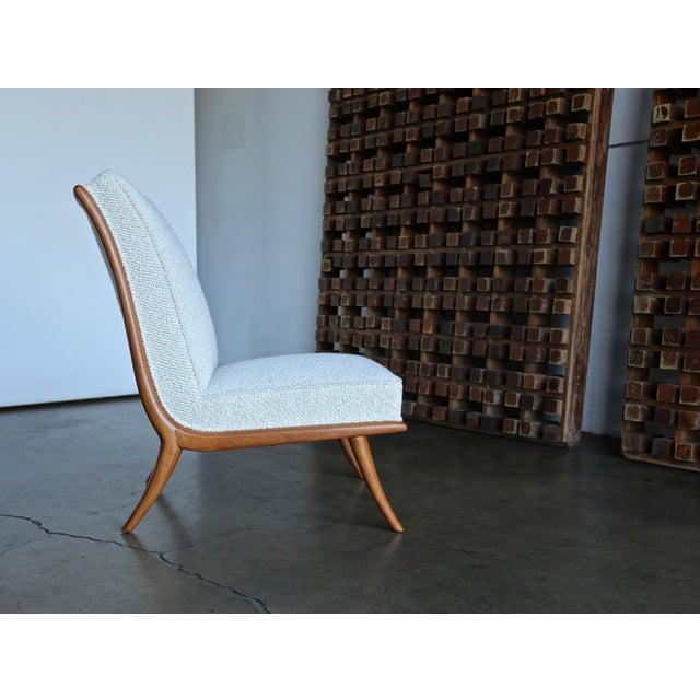 t.h. Robsjohn-Gibbings Slipper Chairs for Widdicomb Circa 1955 For Sale - Image 10 of 12