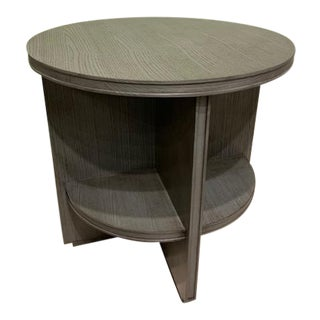 Transitional Hickory Chair Judd Side Table For Sale