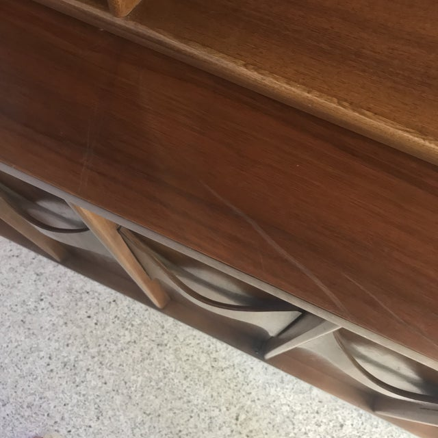 1960s Brutalist Kent Coffey Perspecta Credenza and Hutch For Sale - Image 10 of 12