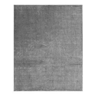 Gray Contemporary Hand Woven Rug - 7′9″ × 9′9″
