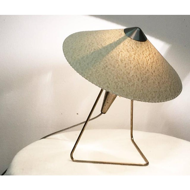 Czech Modernist Table Lamp by Helena Frantova for Okolo, 1950s For Sale - Image 9 of 11
