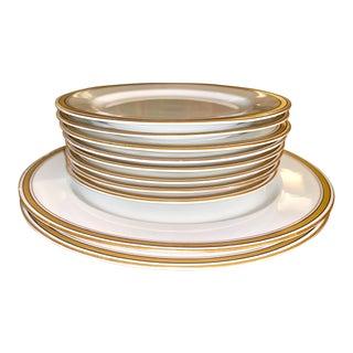 Vintage Antique Porcelain China Plates - 10 Pieces For Sale
