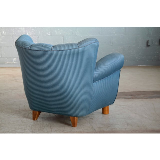 Danish Modern 1940s Danish Boesen and Lassen Attributed Lounge Chair For Sale - Image 3 of 10