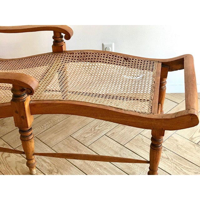 Early 20th Century Antique Bauer Plantation Chaise Lounge For Sale - Image 10 of 13