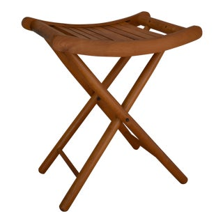 1950s Vintage Nevco Folding Camp Stool For Sale