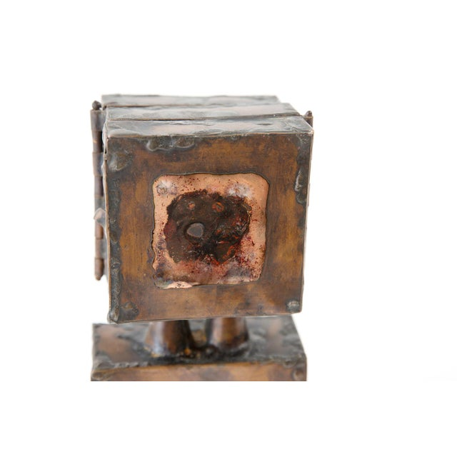 Brutalist Copper Sculpture With 3-Door Top For Sale - Image 4 of 7