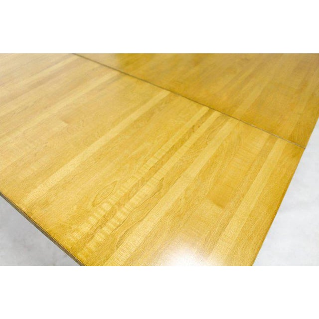 Tan Edmond J. Spence Swedish Blond Birch Dining Table W/ Two Extension Leafs For Sale - Image 8 of 11