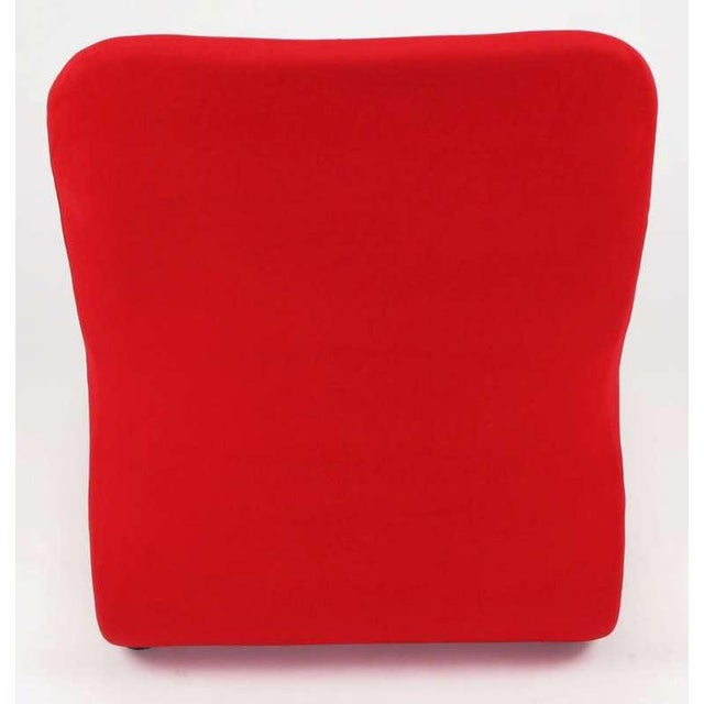Red Swedish Modern Red Wool Ribbon Chair For Sale - Image 8 of 9