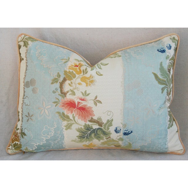 Scalamandre Silk Lampas Pillows - A Pair - Image 5 of 11