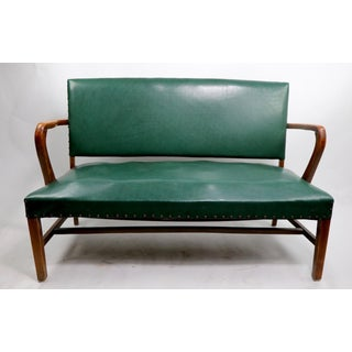 Upholstered Bench Attributed to Gunlocke Preview