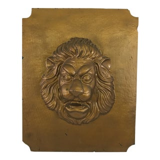 Mid-Century Modern Lion Wall Plaque For Sale