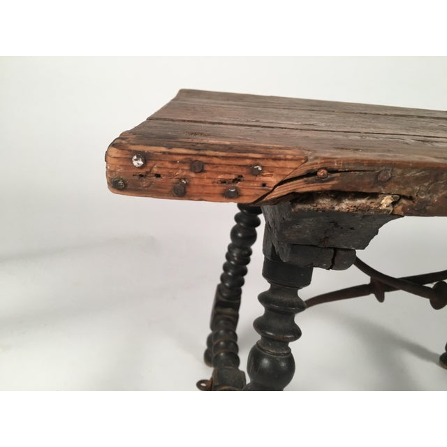 Mid 19th Century Spanish Baroque Style Side Table For Sale - Image 5 of 10