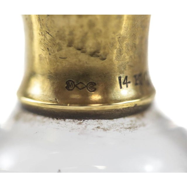 1925 The McChesney Co. 14k Yellow Gold & Etched Glass Perfume Bottle - Image 4 of 8