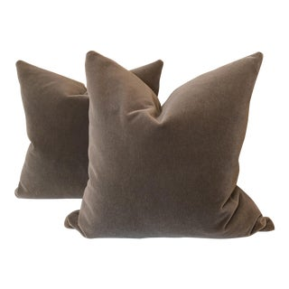 Mink Mohair Pillows - A Pair