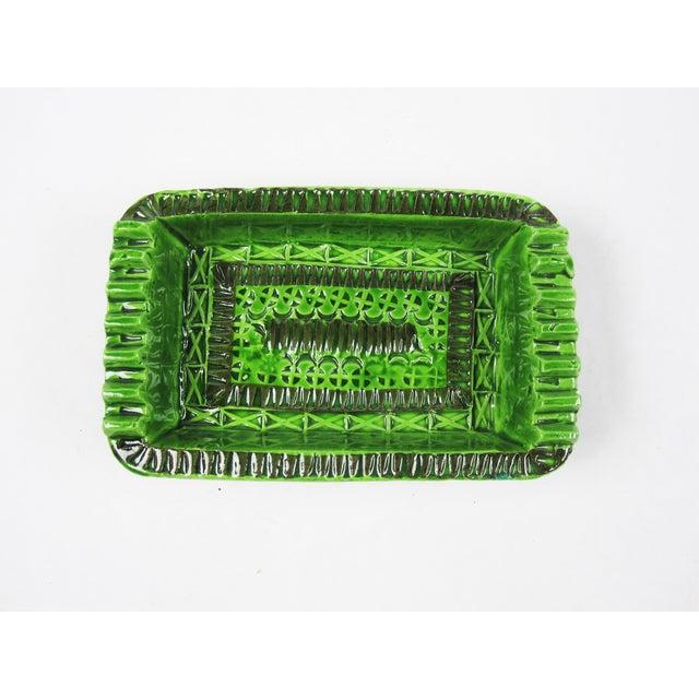 Signed Green Bitossi Soap Dish Ashtray - Image 2 of 4