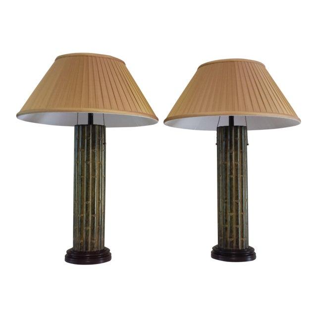 Faux Bamboo Bradburn Gallery Table Lamps A Pair Chairish